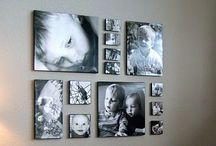bildevegg / Ideer for oppheng av bilder