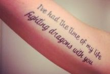 My body is my journal, and my tattoos are my story. / Tat needs