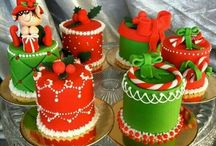 """Cake - Mini Cakes & Petit Fours / A petit four (plural: petits fours, also known as mignardises) is a small confectionery or savoury appetizer. The name is French, petit four (French pronunciation: [pø.ti.fur]), meaning """"small oven""""."""