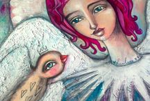 Art Journals -Tamara Laporte ( Willowing) / Tam loves drawing girls with pink hair, little whimsical creatures, avocados, singing and kindness.