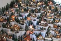 Christmas Villages ( Lemax houses) / Lemax houses makend the perfect winter/Christmas villages
