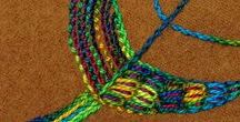 Wool Stitch Along / This free-form hand embroidery on wool explores embroidery stitch combinations.