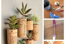 What to do with those empties! / Once in awhile we find ourselves with empty wine bottles and glasses. Here are a few ideas for decorating with them. www.noblegrape.ca
