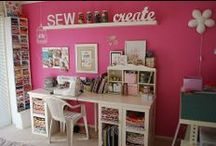 Sewing Room / Work Space / by Gloria Washington