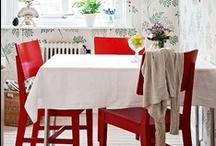 furniture in red / by Gloria Washington