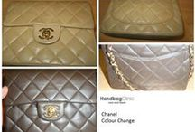 Chanel Handbags / Photos of stained, damaged, torn, dirty and worn out Chanel handbags and purses that we have lovingly cleaned and restored.