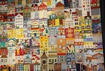 Quilts with Houses