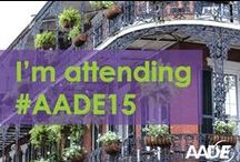 AADE Annual Meeting 2015 / AADE15 will be August 5-8 in New Orleans, LA! http://aade15.org/ / by AADE