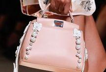 LEATHER : Embellished bag