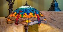 Tiffany in interiors / famouse Tiffany lamps (Tiffany technics) in interiors and homes
