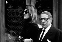 Onassis~Ari & Jackie~ / Aristotle Onassis married Jacqueline Kennedy, the widow of President John F. Kennedy, on Oct. 20, 1968.  They were married on his private island - Skorpios - in Greece.  They were married for 7 years and owned five homes around the world.  Aristotle died on March 15, 1975 at the age of 69.  He was considered one of the wealthiest men in the world.  He spoke four languages, Greek, Turkish, Spanish, and English and at one point, he had deposit accounts in treasuries in 217 banks around the world.  / by Paula Tramonte