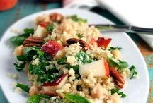 Gorgeous Salad Recipes / Salad recipes and ideas for healthy, delicious, fresh, light lunch or dinner options. Fresh salads with lettuce like romaine, arugula, spring mix, fresh salads with grains like quinoa, rice, couscous, and also fresh salads made with veggies like brussel sprouts, celery, green beans, avocado, and so on.  / by Fifteen Spatulas | Joanne Ozug