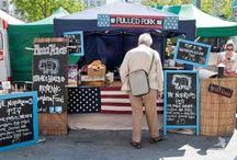 Street food stalls