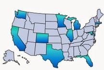 Top U.S. Real Estate Markets / ForSaleByOwner.com chooses the country's top U.S. real estate markets based on the size of the buyer population, the number of homeowners and the average number of days houses are on the market. / by ForSaleByOwner.com