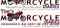 Tim's Motorcycle Diaries / graphics from the blog: https://tkmotorcyclediaries.blogspot.ca/