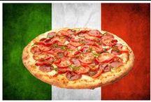 Italiaans eten / Bord over de Italiaanse keuken