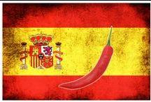 Spaans eten / Bord over de Spaanse keuken