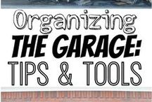 The Garage / Give your ride the proper place to call home. Great organization, DIY and design ideas!