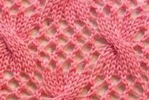 knitting stitches (cables & lace)