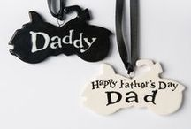 Gifts for Fathers / Special ceramic gifts for Fathers. Because they can be personalised to your wishes, they make superb presents for Father's Day, birthdays, weddings, retirement and practically any other celebratory event.