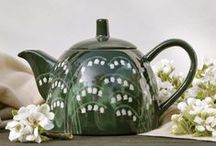 Teapots / A selection of my hand painted Teapots