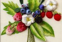 haft trójwymiarowy nicią, haft zwykły