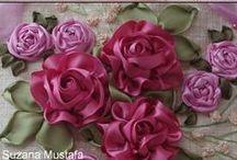 Kwiaty - haft