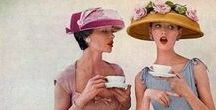 Afternoon Tea / Afternoon tea with cups and saucers, tea, cake and chat.