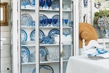 Mostly Blue and white