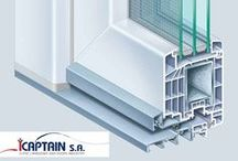 Entrances & doors / Kaptain u-pvc main or secondary entrance, build to withstand weathering, to provide heat and sound insulation combinig maximum security