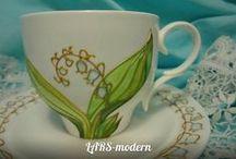 LARS-modern / Hand-Painted - LARS-modern Творческая Mастерская - авторская витражная роспись по стеклу и фарфору.