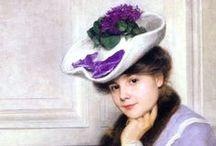 Violets Portrait of a Woman / Девушки с фиалками
