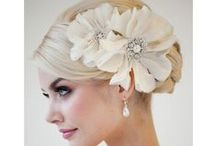 brides hair and accessories