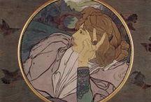 Georges de FEURE (Art Nouveau) - beautiful / Georges de Feure (1868-1943) French Art Nouveau Painter