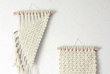 DIY Weaving & Macrame / Find inspiration and tutorials on weaving, macrame and all sorts of wall hanging