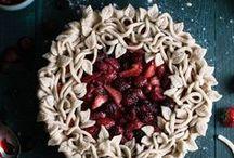 Tartes sucrées // Sweets tarts / Un tableau très gourmand avec des tartes sucrées plus appétissantes les unes que les autres
