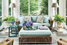 Patio & Porch Ideas / Don't you just love relaxing and sitting enjoying the outdoors in a comfortable way. Here is some inspiration & ideas gathered over time to help you transform your patio/ alfresco area into a special retreat where you can unwind & simply be! #patioandporchideas