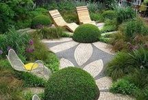 Garden Paths / As a landscape designer & lover of gardens, I am always looking for ideas to create unique & special ways to transition between the various spaces within a property. A garden path is essential for everyone & it doesn't have to be plain concrete or pavers. Have a look at these ideas. I hope they inspire you as much as they do me. #gardenpaths