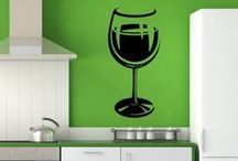 Kitchen Wall Stickers / High in quality, our kitchen wall stickers are a quick and easy way to decorate your kitchen. From cakes to tea pots and coffee mugs to wine bottles, we have many different stylish stickers. Also, a lot of our kitchen wall stickers are perfect if you are planning to decorate a café, restaurant or coffee shop.  / by Icon Wall Stickers