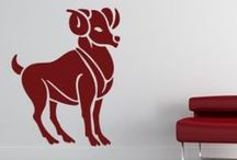 Zodiac Wall Stickers / If you are a fan of astrology, you will love our stylish zodiac and star sign wall stickers. Simple to install, our removable zodiac and star sign wall art decals are perfect if you want to transform the style of a room / by Kate Elizabeth