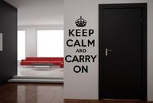Keep Calm Wall Stickers / Vinyl wall sticker quotes that have been inspired by the keep calm and carry on world war 2 campaign. / by Kate Elizabeth