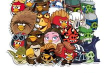 Angry birds, prinsessen, pony's etc
