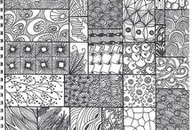 Zentangles / A new arty addiction... Surprising therapeutic given it takes a lot of concentration! Also a great project for older children, would help develop hand eye coordination, fine motor skills and most importantly, creativity!
