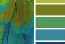 Decorating Blue and Green / Home decorating using royal blue or navy blue, and shades of green.