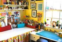 Creative Space Ideas / The places we would love to create in and the little things that make them wonderful.