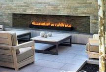 Fire Pits & Places / Creative Fire Pit & Place inspirational Ideas. This seems to be a trending idea, so many of our clients want to include fire somewhere in there gardens. Good Fung Shui, I hear. #firepit