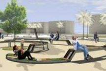 CONTEST - MyCity - MylleniumAward - 2nd Classified / The theme of the comeptition was the restyling of a seafront square in Latina Lido, Italy. WireframeLab used only recycled and recyclable materials to create a dynamic bench that characterizes the whole square.