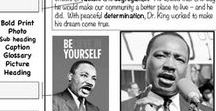 Martin Luther King Day in the Classroom / Ideas, Activities, and Freebies for Celebrating Martin Luther King's Birthday in Third Grade, Fourth Grade, or Fifth Grade Classrooms