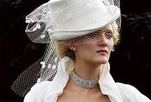 Steam punk top hat wedding outfits. / A different look for the bride to be.