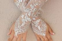 Wedding gloves / Lace and much more.